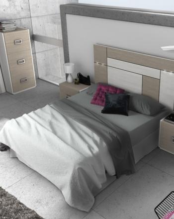 amueblamiento dormitorio cabezal con luz mesitas xinfonier y espejo vestidor