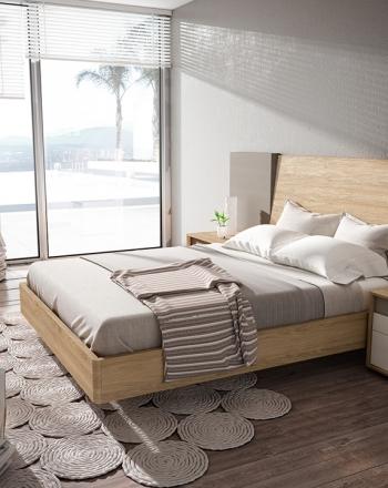 Amueblamiento con diseño moderno de tonos naturales y cálidos.