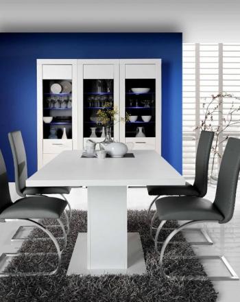 Combinación salón comedor aparador vitrina  bodeguero mesa y sillas