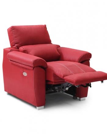 Sillón individual confort motor eléctrico reclinable ajustable motor reposapies, abierto