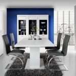 Amueblamiento salón comedor aparador vitrina bodeguero mesa y sillas