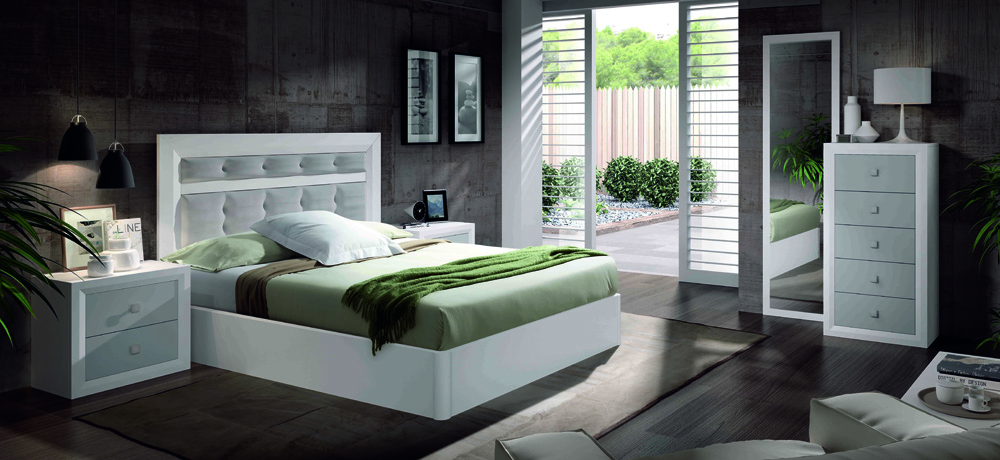 Mobelpark tienda de muebles asturias 03 dormitorio - Cabezal de cama tapizado ...