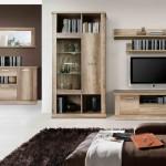 Aparador y mueble de salón para tv con vitrina expositora con luz