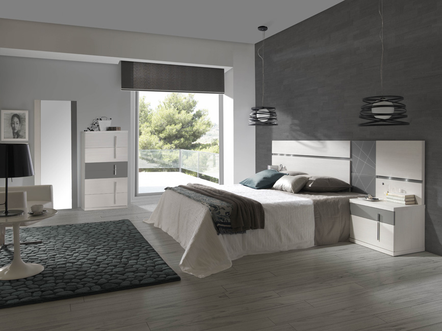 Mobelpark tienda de muebles asturias 08 dormitorio cabezal con luz - Luz para dormitorio ...